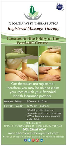 Our #clinic #brochures  Georgia West Therapeutics 103A-1111 West Georgia St Vancouver BC georgiawesttherap... 604-336-1396