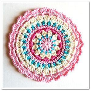 Little Spring Mandala - Free #Mandala #Crochet Pattern Roundup