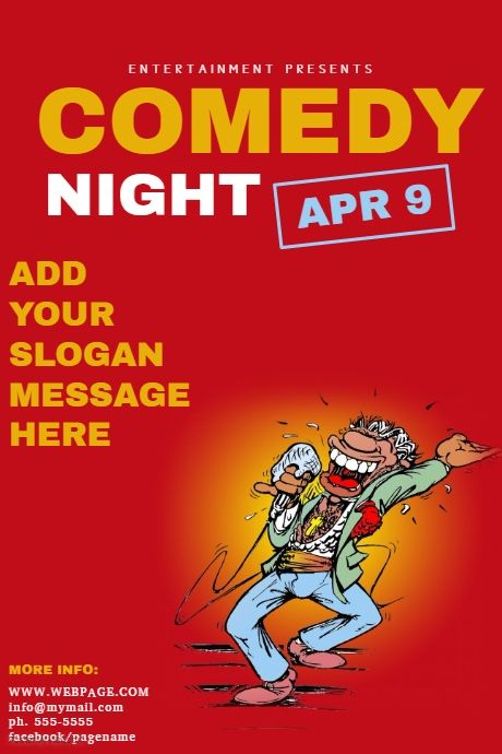 Comedy Night Flyer Template | PosterMyWall | Karaoke flyer template ...