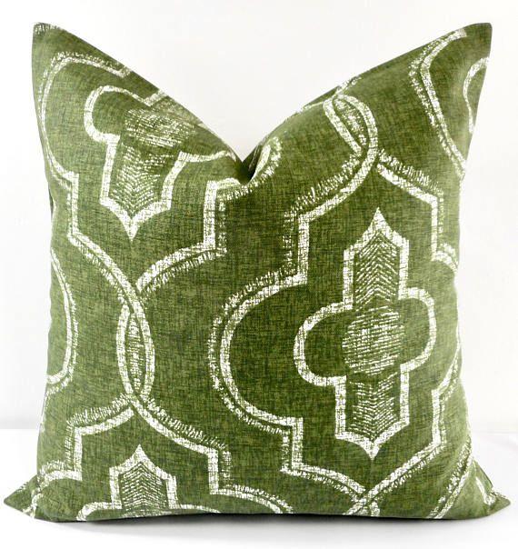 Juniper Green  pillow cover. Newport  Damask Print Pillow