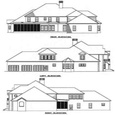 Planes europeos casa de estilo - 5548 pies cuadrados de construcción Home, de 2 pisos, 5 dormitorios y 4 3 Baño, 3 Garaje puestos por planes de vivienda del monstruo - Plan de 12-127