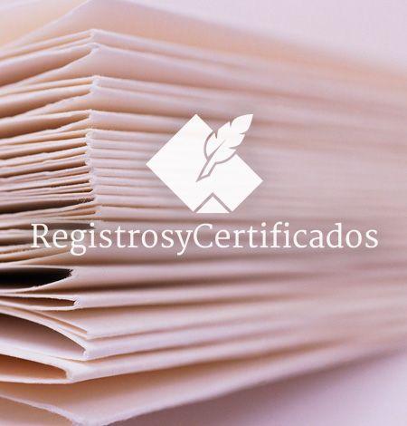 Certificado de contratos de seguros de cobertura de fallecimiento