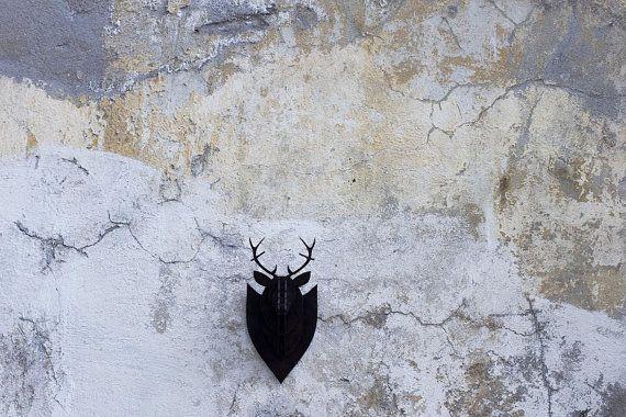 Black small deer small deer 3Ddeer by YOURMAYA on Etsy