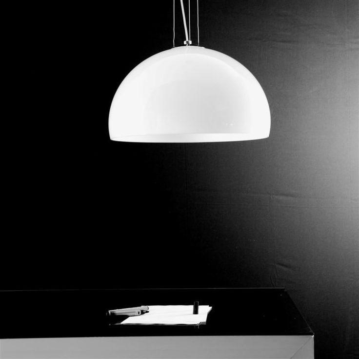 Yurta bianco diam. 50 - 1 luce - Lampadario moderno - OLUX ILLUMINAZIONE €131,88