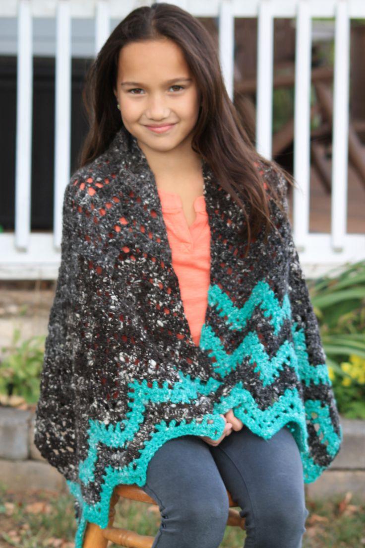 Handspun wool and angora crocheted shawl