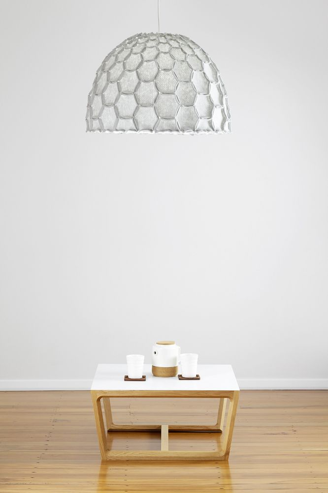 New Light Grey Large Half Nectar Shade Above The Chamfer Table   Designer  Designtree Www. Pictures