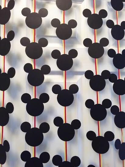 Black Mickey Mouse Inspired Silhouette Banner by LetsGetDecorative