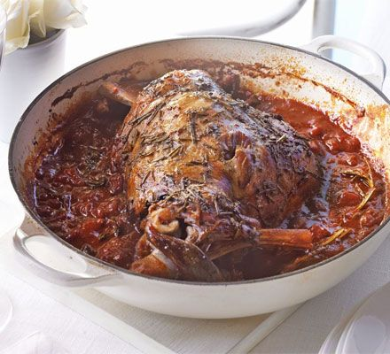Cook this 'low and slow' in its own sauce til it's so tender you can carve it with a spoon