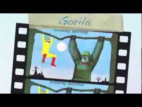 """Trabajo Pontificia Universidad Católica de Chile, sobre literatura infantil y juvenil. El libro aludido es """"Gorila"""" del autor Anthony Brown."""