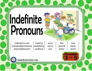 write five sentences using indefinite pronouns In other words, the pronoun is there, but the alex part of the sentence is not  here are some examples of indefinite pronouns to help make this idea even.