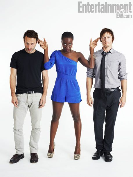 The Walking Dead- Michonne has the right idea- I would like Rick and Daryl as pets too, LOL