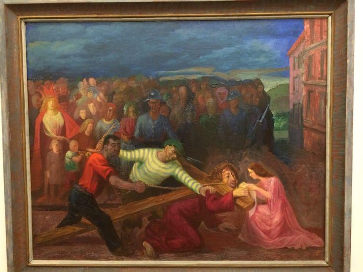 Otto Dix - Kreutztragung (Cristo e la Veronica)