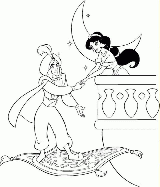 114 best Alladin Coloring Pages images on Pinterest Disney
