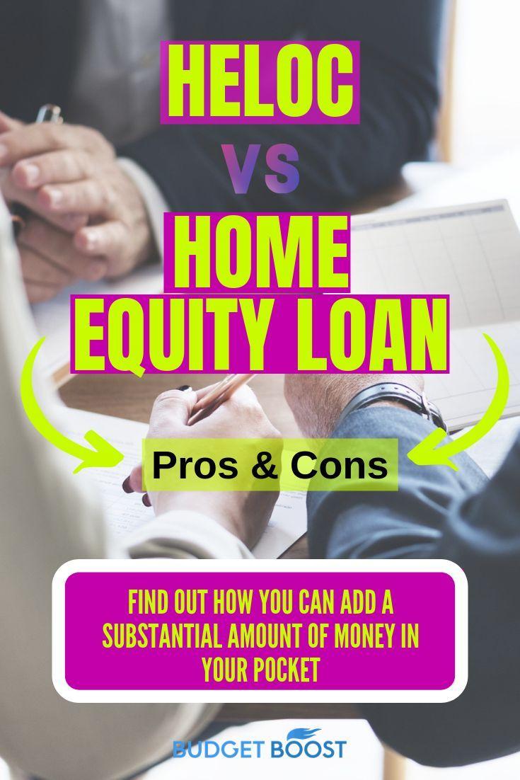 Heloc Gegen Home Equity Loan Finance Tips Equity Finance Gegen Heloc Home Loan Tips Budget Planer Budget Leben