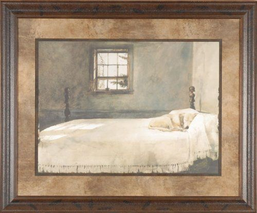 Master Bedroom Andrew Wyeth 25x21 Gallery Quality Framed Print Dog Sleeping Bed Picture Picture