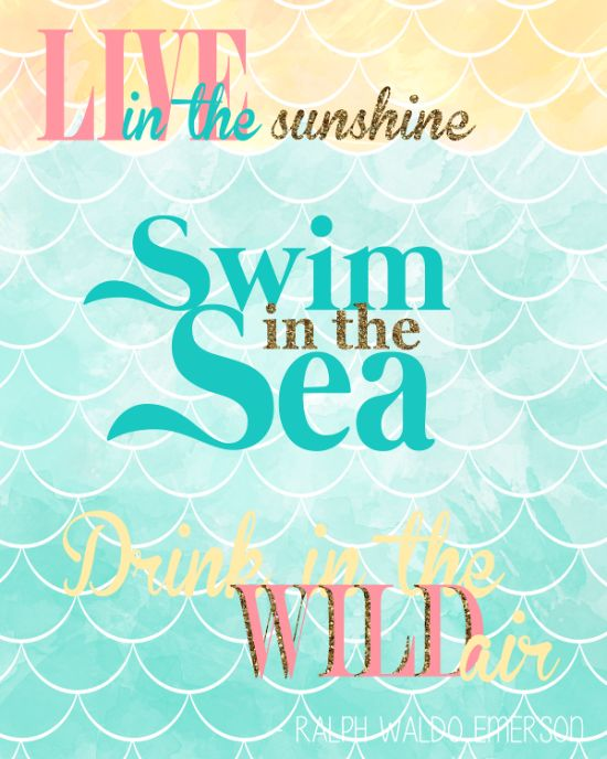 Free Live in the Sunshine... Emerson Quote Printable