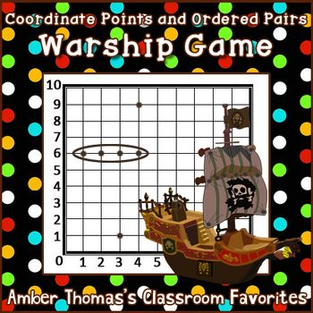"""This free math game is a derivative I created based on a popular game in order to help my students practice plotting coordinate points as well as telling ordered pairs for points they have plotted. I call it: Coordinate points and ordered pairs """"Warship.""""  FREE!"""