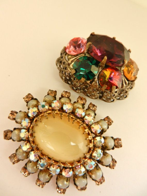 European old jewels  extraordinary pair of domed by RAKcreations