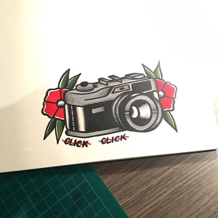 Click  #camera #cameratattoo #tattooart #tattooflash #tattoo #tattooflash #traditionaltattoo #paint #traditionalart #traditionalflash #traditionaltattooflash #newschool #oldschool #art #lordwells #rose #vintage #tattoos #flash #flashart #flashtattoo