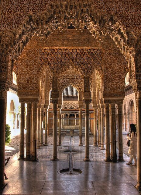 Spain Travel Inspiration - The Alhambra - the most famous garden in Spain with 8,000 visitors a day in December.