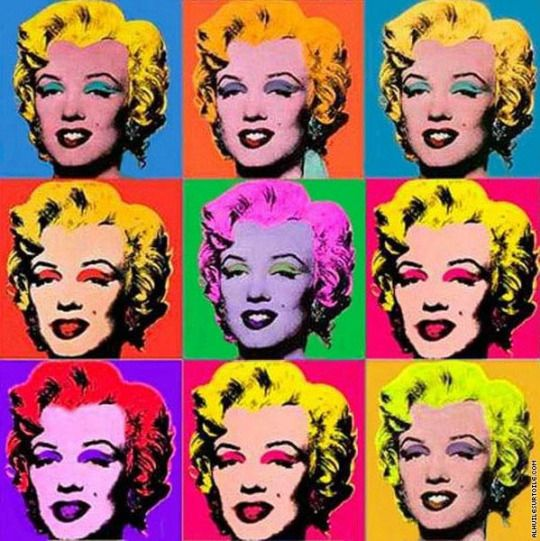 Set of iconic multi-colored photos of Marilyn Monroe by the artist, Andy Warhol