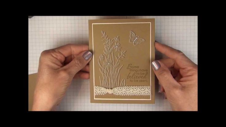 Faux Embossing Technique -offset stamping using white kraft ink and crdstk matching color ink