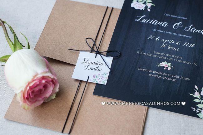 Como escolher os convites de um casamento rústico: ideias lindas! Image: 16