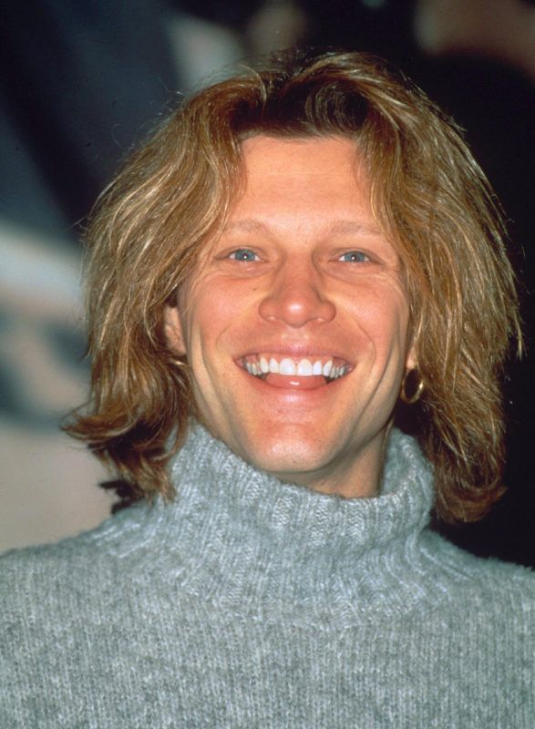 Jon Bon Jovi circa 1995 - I think I watched him sing Saturday Night in that jumper :( so long ago.