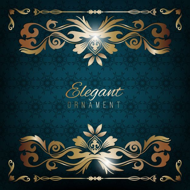 Vintage Invitation Card Blue Luxury Bac Premium Vector Freepik Vector Background Logo Pattern In 2020 Vintage Invitations Invitation Cards Luxury Background