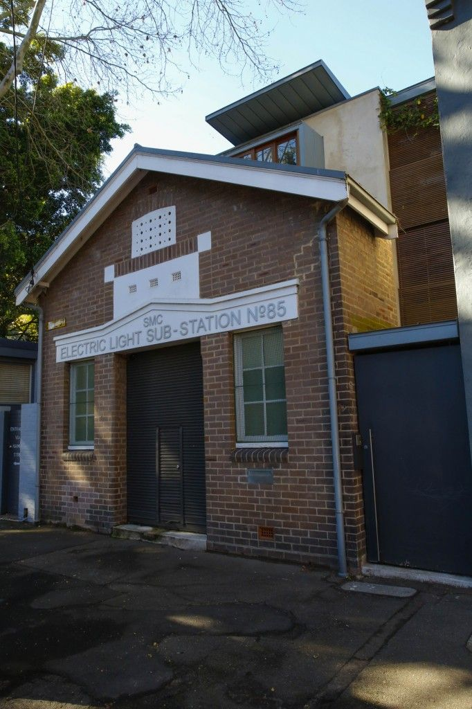 Adaptive reuse of electric sub-station on Cecil Street, Paddington. Now used as a residential dwelling.
