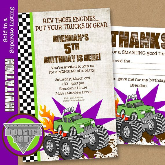 Monster Truck Party Printables Set - Birthday - Grave Digger -by Amanda's Parties TO GO