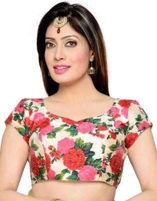 Studio Shringaar Multi Color Floral Printed Blouse #SareeBlouse #FloralPrinted