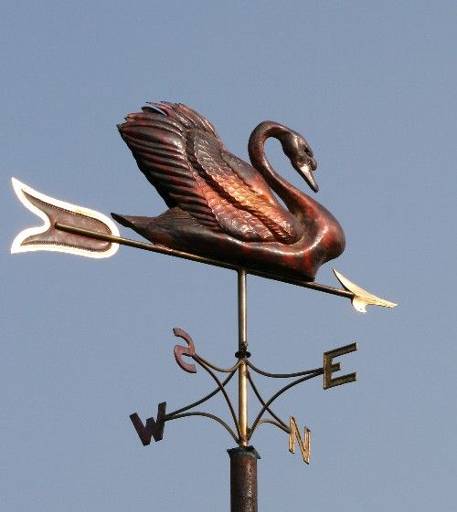 Copper Swan Weathervane from Greens weathervanes