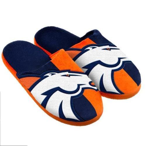 Denver broncos unisex split color slide slippers for Denver broncos colors