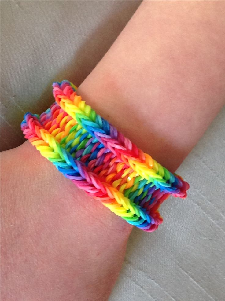 Rainbow Weave with the latest versions of the Rainbow Loom bands.  The new basic rainbow colors are brighter than the originals.                                                                                                                                                     More