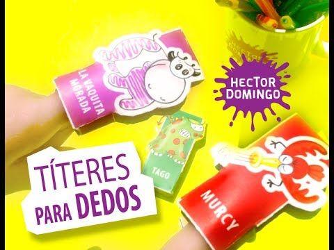 Títeres para dedos. La Vaquita Morada™ y sus amigos. #HECTORDOMINGO  #LIJ #JUGUETESDEPAPEL  #TITERES #LAVAQUITAMORADA