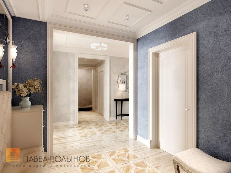 Фото дизайн прихожей из проекта «Дизайн 4-комнатной квартиры 162 кв.м. в ЖК «Платинум», стиль неоклассика»