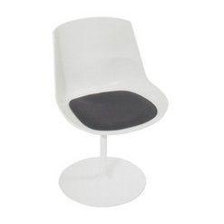zitkussen voor stoel Flow Chair van MDF Italia  opbouw: 2x3mm dikke wolvilt, gevuld met 10mm zitschuim en antislip-laag onderaan. De onderkant is steeds in antraciet gemêleerd.