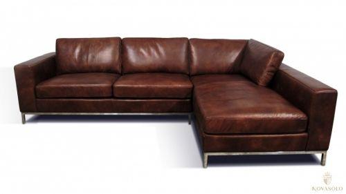Tøff og råstilig Cardinal vintage skinnsofa med sjeselong. Det er en sjeldenhet at man finner en slik sofa i dette materialet og kvalitet så vi håper den faller i smak!  www.novasolo.no