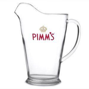 Pimm's Acrylic Jug 60oz / 1.7ltr | Plastic Pimms Jug, Official Pimm's Original Cocktail Jug, Plastic Pitcher, Ice Lipped Jug