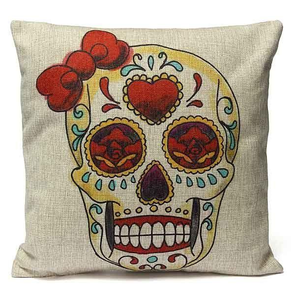 cuscino con teschio messicano di minithings su DaWanda.com