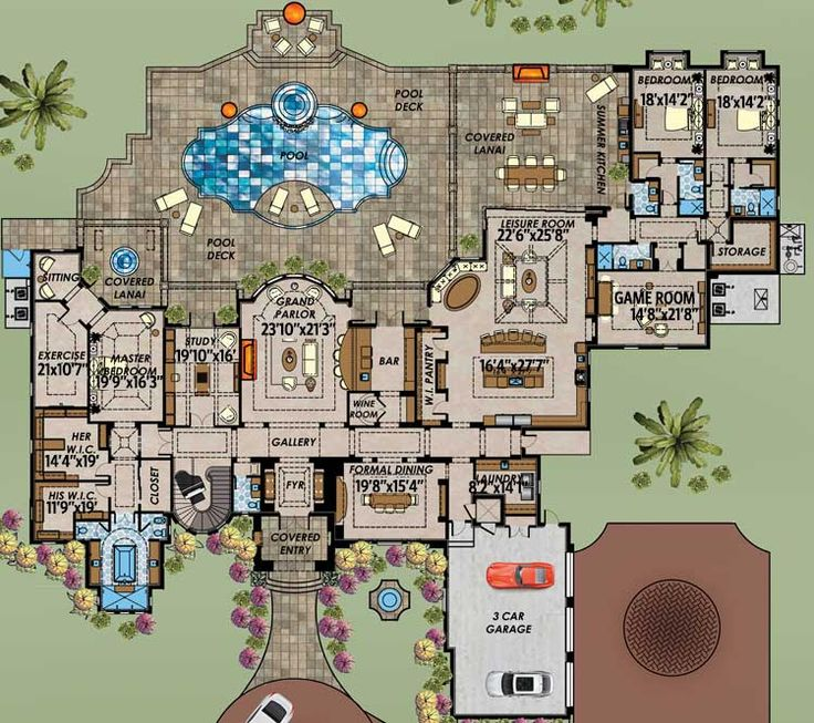 Plan 31842DN Mediterranean Masterpiece 633 best Architecture