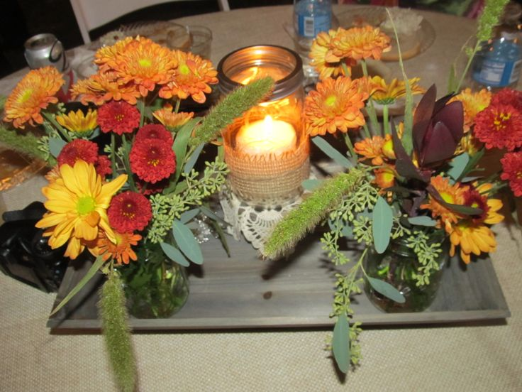 Center pieces for dinner tables.