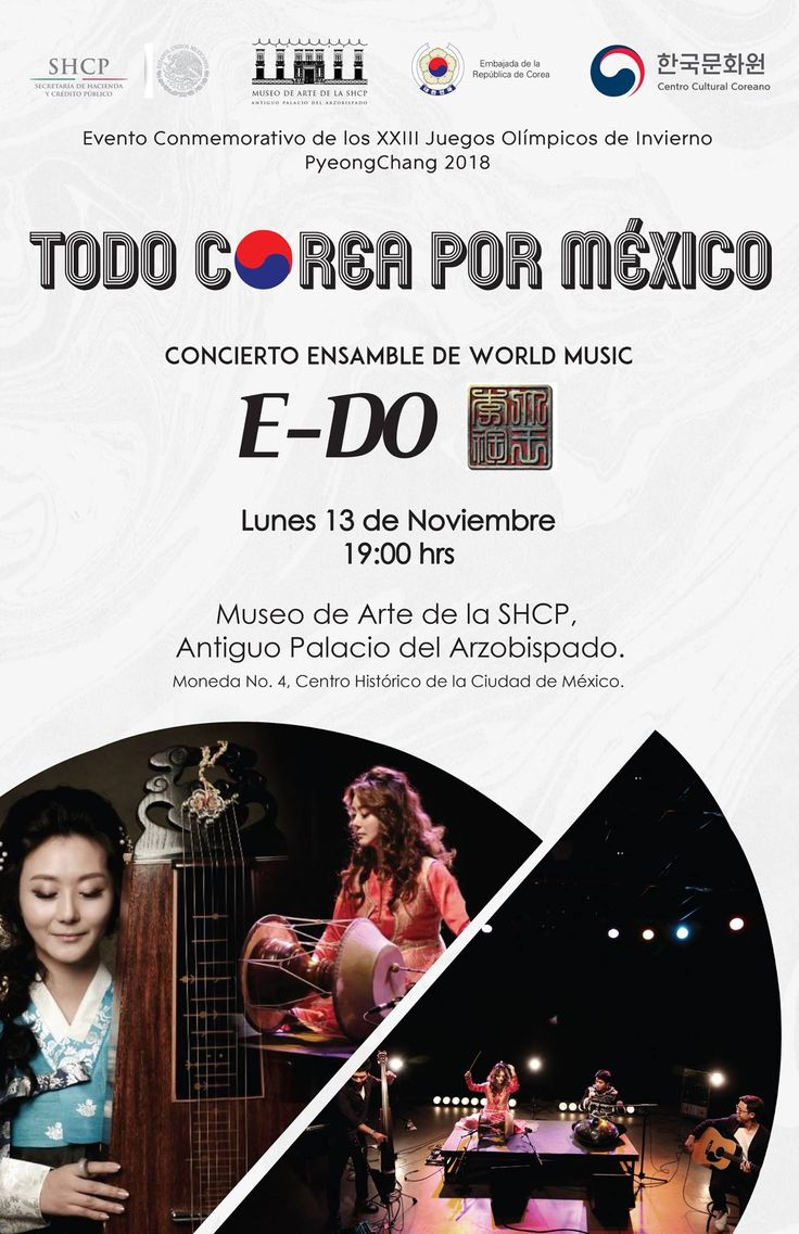 #Evento| E-DO: música tradicional coreana en honor a México