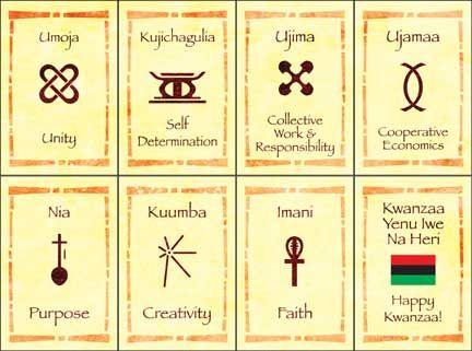 Seven Principles Kwanzaa | The Nguzo Saba (Seven Principles) of the Seven Days of Kwanzaa, image ...