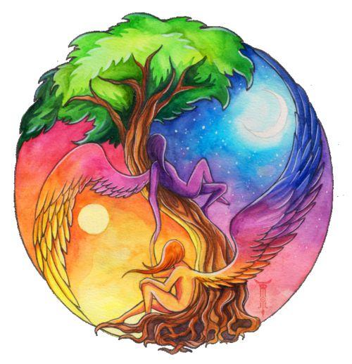 The Yin and Yang of Mother Earth.....beautiful #polynesian #tattoo Carlotta 27th