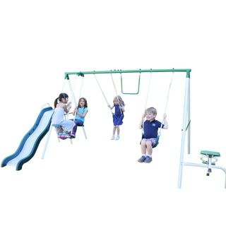 Shop for Sportspower Live Oak Metal Swing and Slide Set. Get free delivery at Overstock.com - Your Online Toys