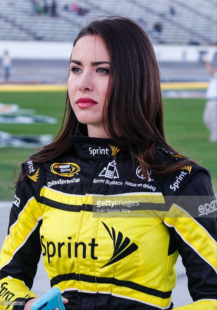 Sprint Cup girl Julianna White during qualifying for the NASCAR Sprint Cup Series AAA Texas 500 at Texas Motor Speedway in Fort Worth, Texas.