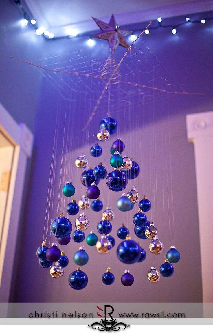 Modern Hanging Christmas Tree Using Fishing Line View