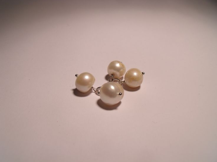 Gentlemen's Cufflinks with freshwater pearls #gentlemen #cufflinks #freshwater #pearls